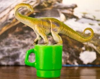 Anchor Hocking Fireking Bright Green Millk Glass Coffee Mug