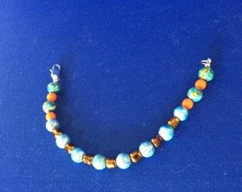 EHMB #15  Casual BLUE & BRONZE Bracelet