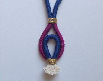 "Cotton Rope Tassel Necklace ""Heidi"""