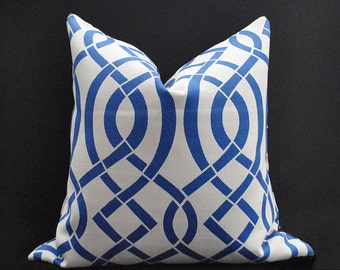 Outdoor pillow cover, Blue Grey pillow, Geometric Pillow covers,  Indoor Outdoor cushion cover