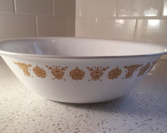 Corelle Butterfly Gold Serving Bowl
