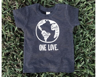 Charcoal one love baby tee // baby tee // toddler tee // baby tshirt