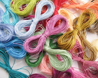 C-LON BEADING CORD 300 meters c-lon thread by 10 meters each. - 0.50 mm thickness for 30 colors.