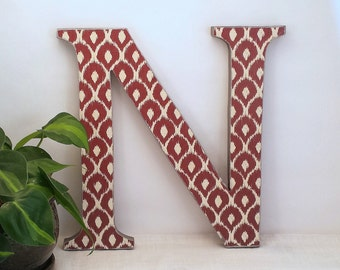 Letter N   Wooden Letter For Wall   Letter Wall Decor   Ikat Letter    Gallery