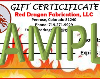 Gift Certificate - 100 USD