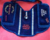 Handmade, Service Dog Vest, PTSD, Seizure Alert, Emotional Support Dog, Diabetic Alert, Hearing Alert, you choose the embroidery and color.