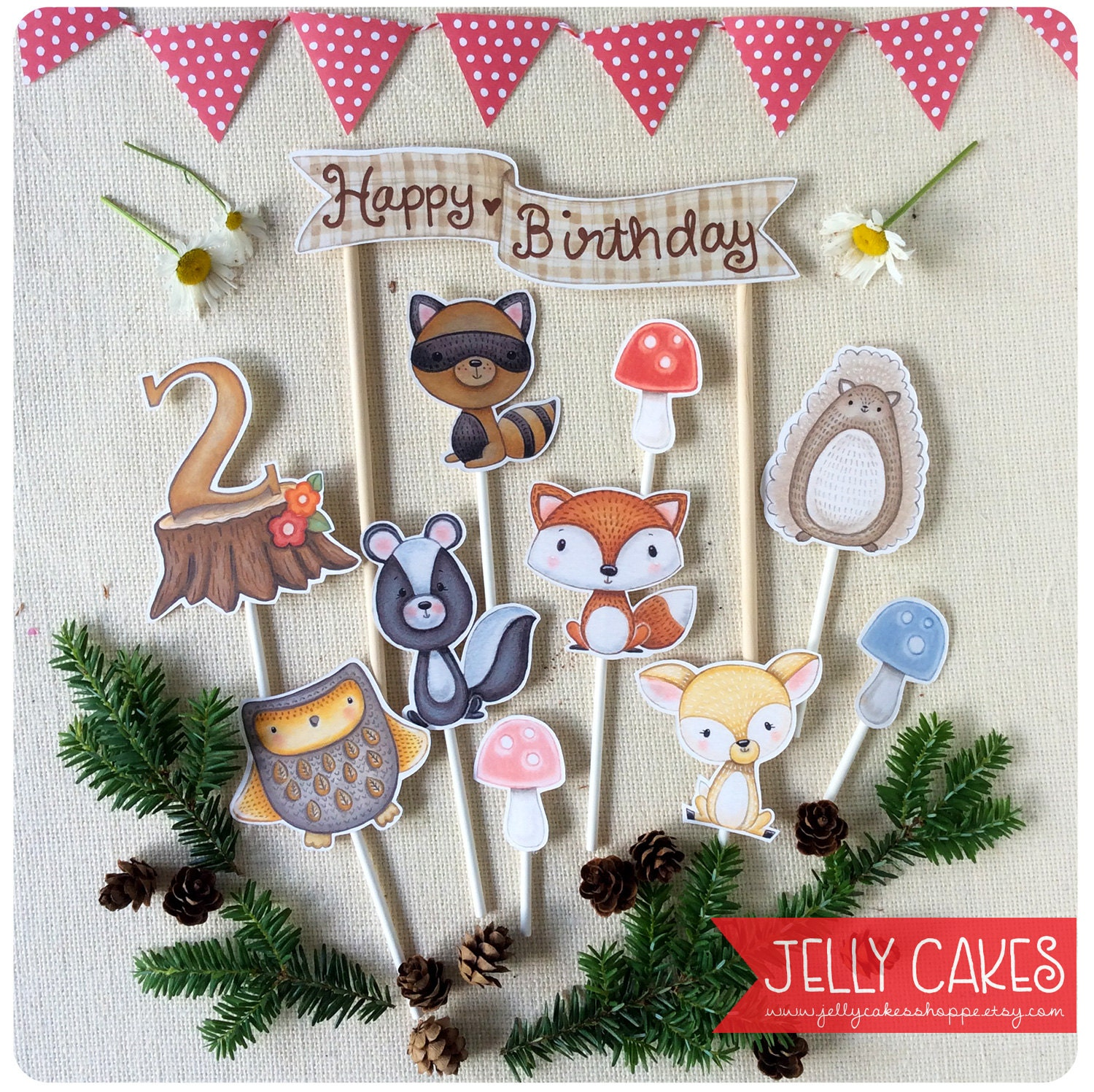 Woodland Animals Cake ToppersWoodland Birthday PartyKids