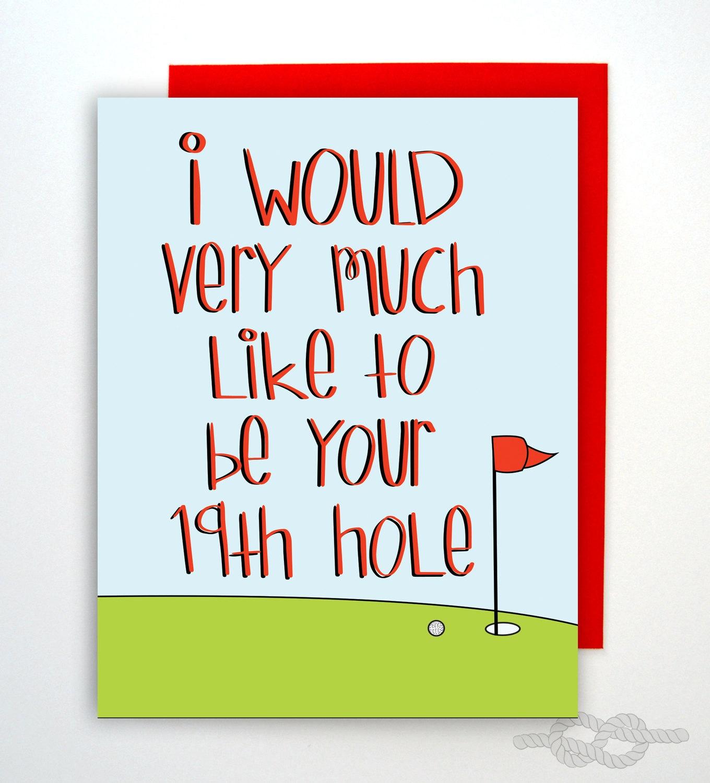 Funny Naughty Card Birthday Card Golf Card Card