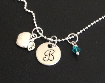 Teacher Necklace-Teacher Appreciation Jewelry-Teacher Gift