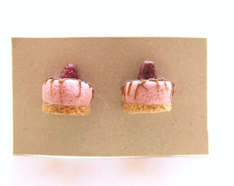 Cheese Cake Polymer Clay Stud Earrings