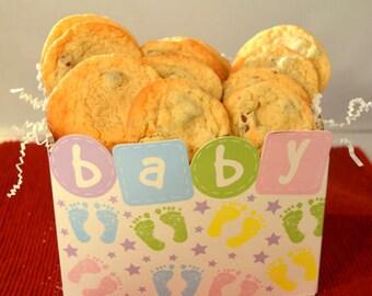 Baby Shower, Newborn Baby Gift, Chocolate Chip Cookies, Birthday Cookies, Gourmet Cookies, Homemade Cookies, Chocolate Chip Cookies,