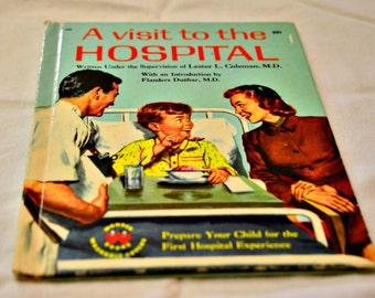 Wonder book. Vintage. Children's book. Hospital visit. Family Doctor