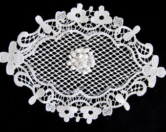 Lovely White Lace Oval Lace DIY Craft Floral Lace Seed Lace Bridal Sew On