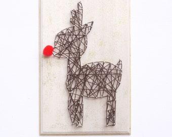 DIY Kit, String art kit, creative kit, Make your own Rudolph