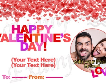Personalized VALENTINE'S CARD! with your Photos and Texts!