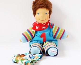 Waldorfinspired doll, kuddeldoll, toydoll, stuffed toy, handmade doll, 12 inch, toddlerdoll, steinerdoll, birthday, Sonnenkind