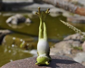 Yoga Frog Shoulder Stand Pose