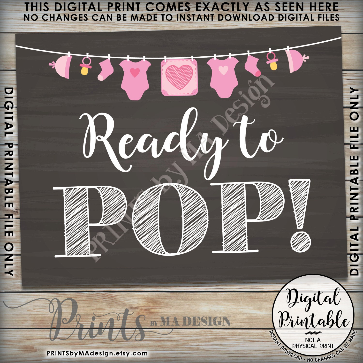 Ready to Pop Baby Shower Sign Popcorn Cake Pop Baby Shower