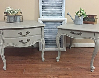 French Provincial Side Tables -Nightstands