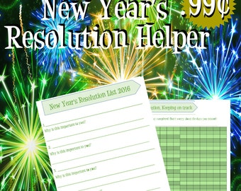 Green New Years Resolution Printable