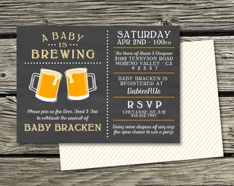 Baby Shower Invitation Digital Download-A Baby Is Brewing