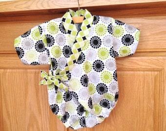 Baby Kimono Romper, Baby Kimono Onesie, Baby Kimono Bodysuit, Baby Kimono, Baby Jinbei, 0-3 Mo, 3-6 Mo, 6-12 Mo, 12-18 Mo