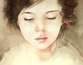 Original watercolor portrait,custom your portrait, Made to Order, 11.7x8.3in (21Х29,7см)