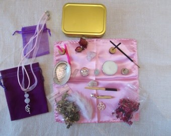 Fairy Altar, Fairy Travel Altar,Fairy Pocket Altar,Fairy Altar Kit,Fairy Altar Set