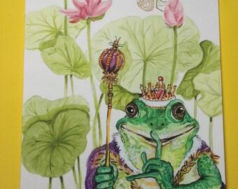 Frog prince kiss...