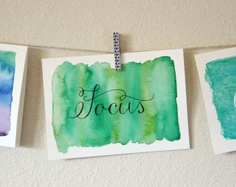 custom calligraphy watercolor painting | one word or short phrase