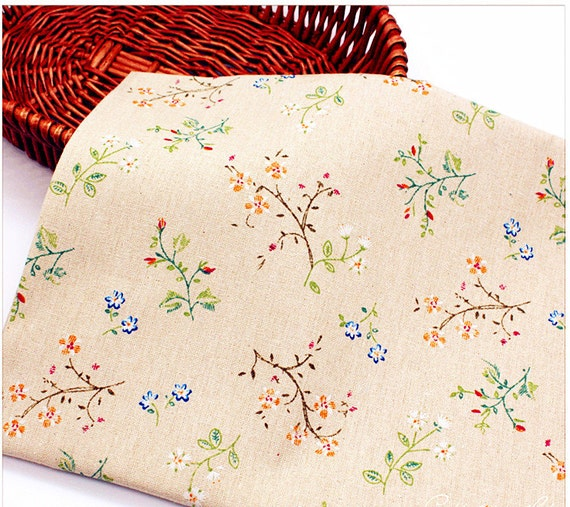 shabby chic home decor fabric retro japanese fabric cotton linen small flowers fabric 13053