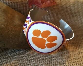 Clemson Tigers Cuff Bracelet