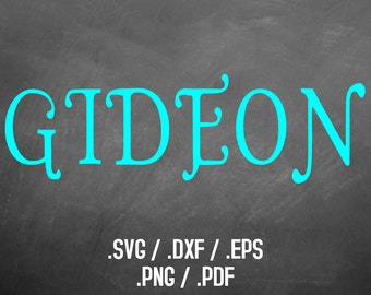 Silhouette Font Svg Design Studio Software, Gideon Font, Dxf Files, Svg Font, Eps Files, Png Font, Cute and Fun Font Silhouette