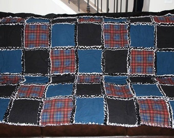 Flannel rag top with minky backing blanket