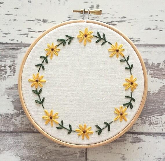 Custom embroidery hoop personalised wall