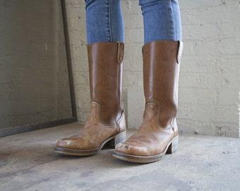 Vintage 1970s Dingo Cowboy Boots Size 8.5D