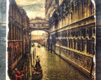 Venice Bridge of Sighs Tile