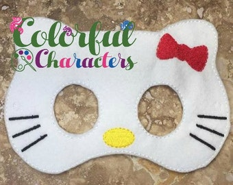 Kitty Inspired felt masks, party masks, pretend play, made to order, party favors, halloween masks