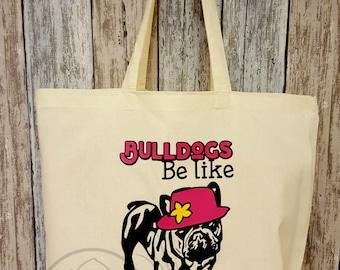 French bulldog, cotton bag, franse bulldog