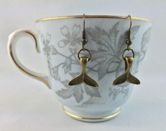 Whale's Tail Earrings - Whale  Earrings - Whale Jewelry