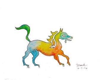 Heraldric Horse, print on the shop Chiselwit