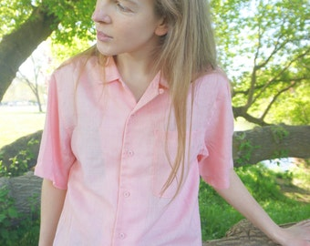 Classic Women's Vintage Button-up Shirt