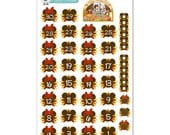 Disney Thanksgiving Countdown or Date Cover Stickers - Disney Planner Stickers