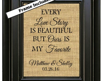 FRAMED Personalized Engagement Gift for Couple Newly Engaged Gift  Wedding Gift Ideas Custom Engagement Print Engagement Party Decoration