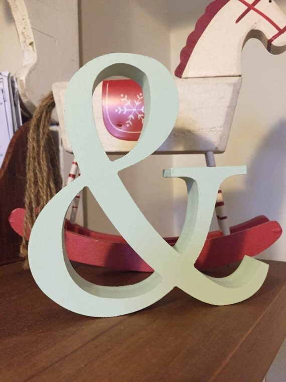 Mint green wooden letters and numbers free standing for Standing wood letters to paint