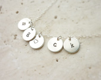 Disc Necklace Sterling Silver 9 mm