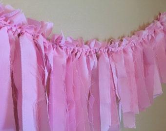 25% OFF Pink Fabric Garland