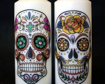 Sugar Skull candles