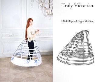 1865 Elliptical Cage Crinoline Cinderella 2015 (Free Shipping)
