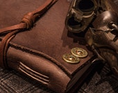 """The """"Double Barrel"""" Leather Journal   Handmade in the U.S.A.   Hand Stitched by Leather Artisans"""